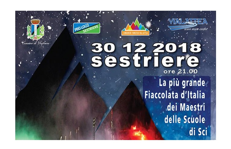 SESTRIERE: IL 30 DICEMBRE LA PIÙ GRANDE FIACCOLATA D'ITALIA DEI MAESTRI DELLE SCUOLE DI SCI
